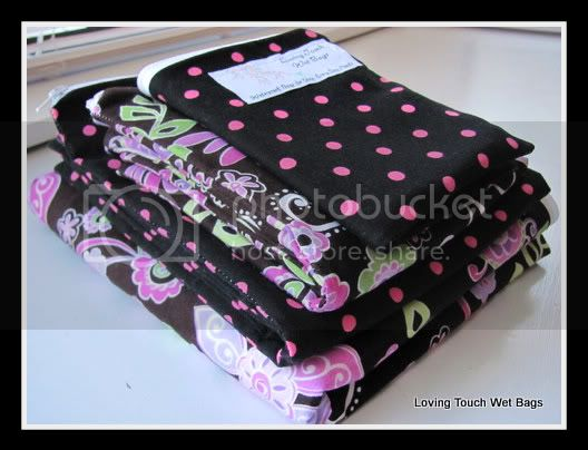 Bohemian Flowers &amp; Dots&lt;br&gt;Wipes Bag, Family Cloth Bag, Medium, &amp; Hanging Pail&lt;br&gt;Sold Individually!