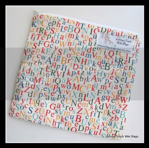 Crazy Letters&lt;br&gt;Single Diaper&lt;br&gt;Wet Bag