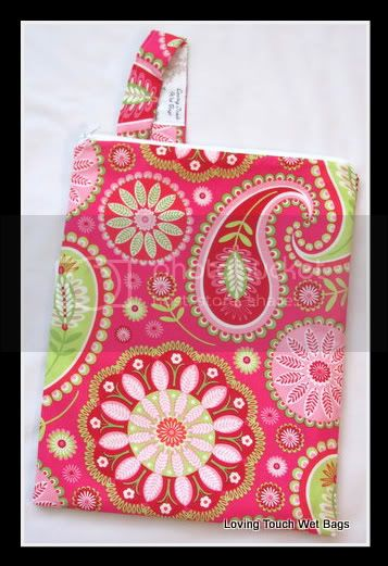Hot Pink Flower Bloom&lt;br&gt;Family Cloth&lt;br&gt;Wet Bag