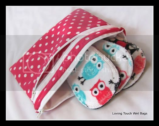 Lovely Owls &lt;br&gt;&amp;&lt;br&gt; Hot Pink Clutch Wet Bag