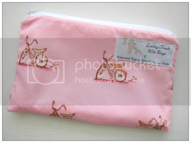 Discontinued fabric-&lt;br&gt; Heather Ross Bikes &lt;br&gt; Wipes Wet Bag