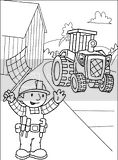 Bob the builder coloring page of Travis hard at work.