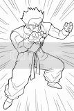 Dragon Ball Z coloring picture pages of Goku, Gohan, and others.