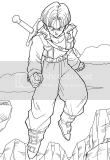 Dragon Ball Z coloring picture downloads for fans of Japanese animation characters.