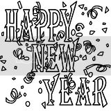Free Happy New Year coloring pages for kids.