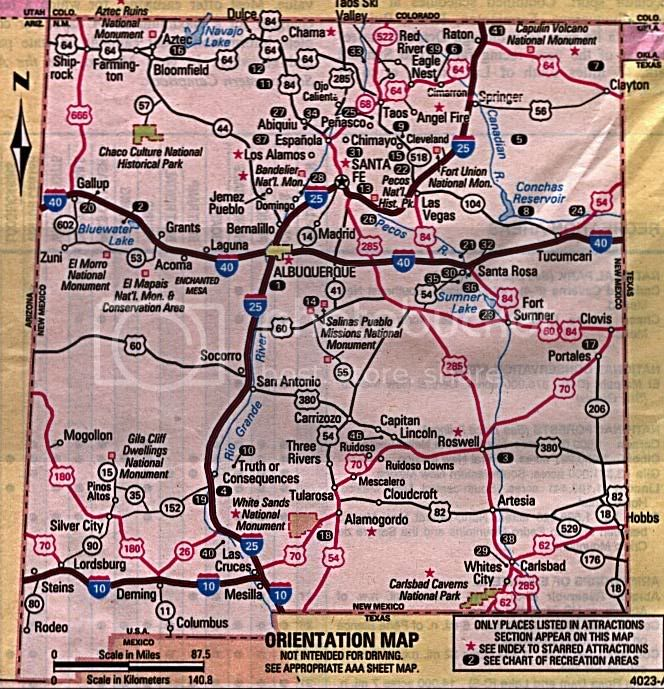 bromley state map new mexico of