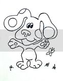 Free coloring pages of Nickelodeon characters like Blue from Blue's Clues.