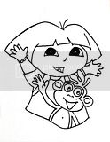 Dora Explorer Nickelodeon coloring pages for free.