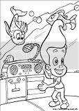 Free coloring pages of Nickelodeon characters like Jimmy Neutron for kids to enjoy coloring.
