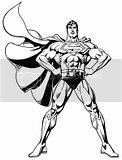 Superman free coloring pages of him posing and showing his muscles.