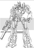 Optimus gets Primed up in these Transformers coloring sheets for kids to print.