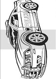 Transformers coloring books often include police car picture like this, but I don't know this character's name.