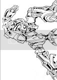 Robot ready to fight in action for these Transformers coloring pictures to print for kids.