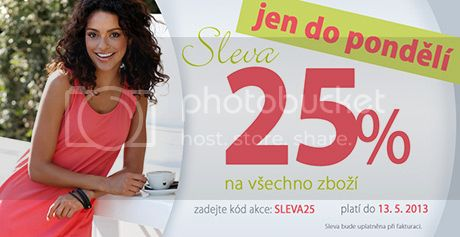 Slevy -25% jen do pondl u Cellbes.cz prv te!